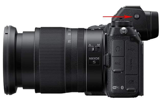 Nikon Z6 - přepínač obrazovek